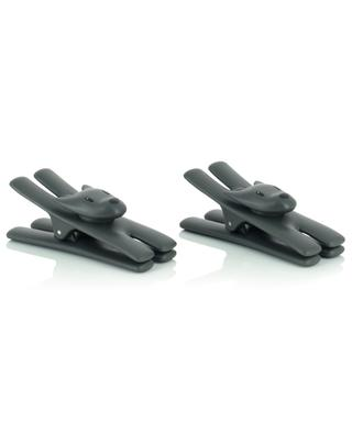 Giampo set of two black magnetic note clips ALESSI