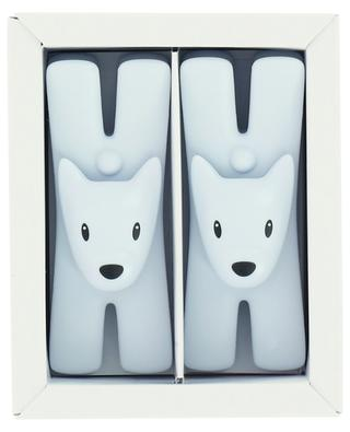 Giampo set of two light blue magnetic note clips ALESSI