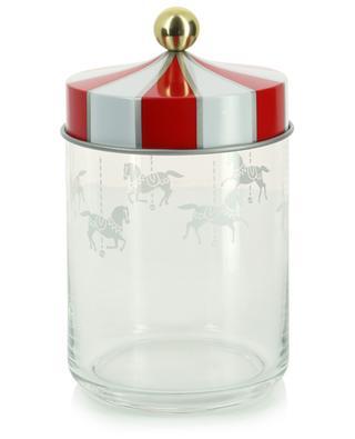 Circus - H19 cm hermetic glass jar ALESSI