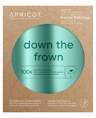 Gesichts-Patches mit Hyaluron Down The Frown - 100 Stück APRICOT