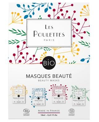 Set with four organic care masks LES POULETTES