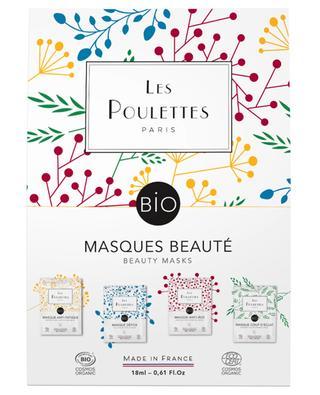Set with four organic care masks LES POULETTES