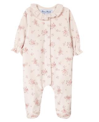 Pyjama bébé en velours imprimé fleurs TARTINE ET CHOCOLAT