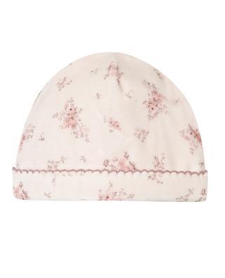 Bonnet bébé en velours motifs toile de jouy TARTINE ET CHOCOLAT