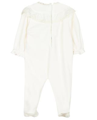Pyjama bébé en velours et dentelle TARTINE ET CHOCOLAT