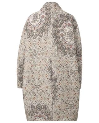 Einreihiger Oversize-Mantel aus Brokat FABIANA FILIPPI