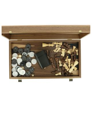 Chess and Backgammon set in walnut wood MANOPOULOS