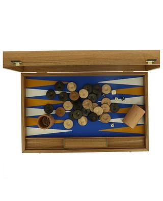 Jeu de Backgammon en bois de chêne et noyer MANOPOULOS