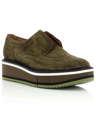 Becka leather lace-up khaki derby shoes CLERGERIE