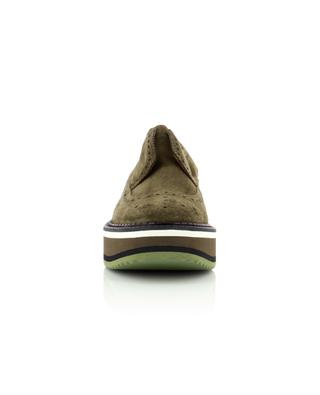 Derbies en cuir kaki à lacets Becka CLERGERIE