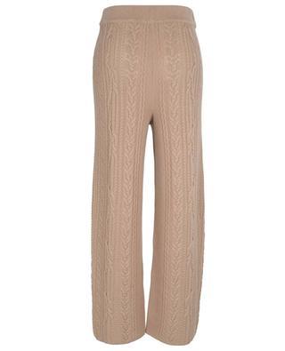 Cashmere cable knit jogging trousers FTC CASHMERE