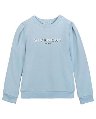 Sweat-shirt fille à manches froncées imprimé logo GIVENCHY