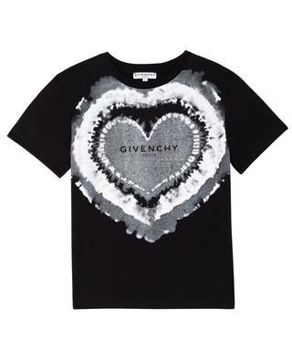 T-shirt fille imprimé Tie-Dye-Logo Heart GIVENCHY