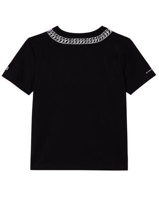 T-shirt garçon à col rond imprimé chaîne GIVENCHY