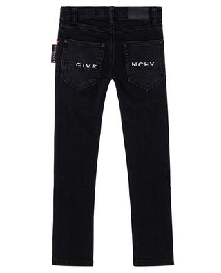 Logo labelled slim fit boys' jeans GIVENCHY