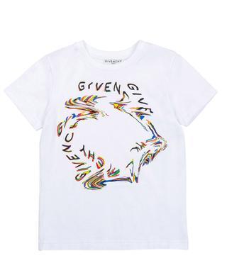 T-shirt garçon à manches courtes Glitch GIVENCHY