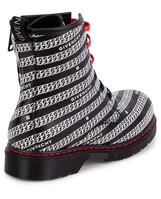 Chains All-Over printed girls' lace-up ankle boots GIVENCHY