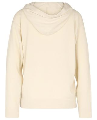 TERRA stripe detail adorned hooded cashmere jumper FABIANA FILIPPI