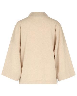 TERRA zippered boxy cashmere cardigan FABIANA FILIPPI