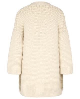 TERRA chunky cashmere knit coat with 3/4 sleeves FABIANA FILIPPI