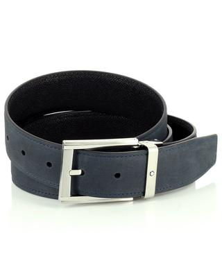Sartorial reversible leather and nubuck leather belt MONTBLANC