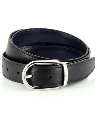 Reversible leather belt in blue and black MONTBLANC