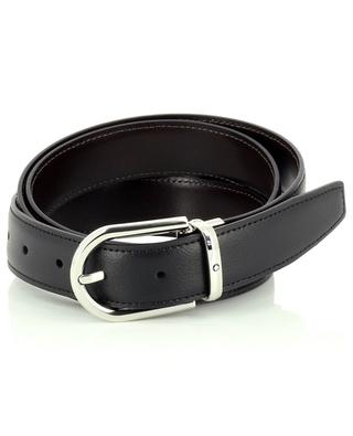 Reversible leather belt in brown and black MONTBLANC
