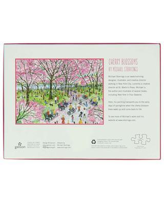 Cherry Blossoms Central Park illustration puzzle - 1000 pieces ABRAMS & CHRONICLES BOOKS