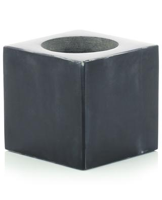Black marble candle holder STONED