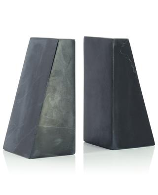 Serre-livres en marbre noir STONED