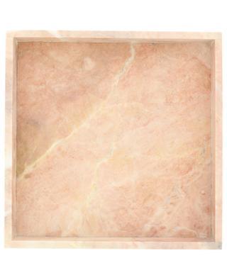 Plateau carré en marbre rose STONED