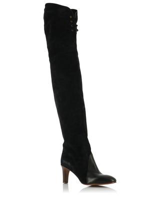 Overknee-Stiefel aus Glatt- und Wildleder CHLOE