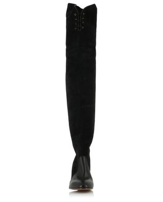Smooth leather and suede overknee boots CHLOE