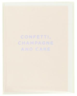 Postkarte Confetti, Champagne and Cake LAGOM DESIGN