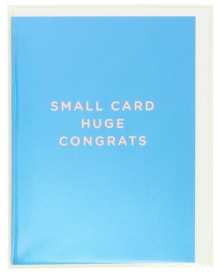 Small Card Huge Congrats post card LAGOM DESIGN