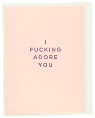 I Fucking Adore You post card LAGOM DESIGN