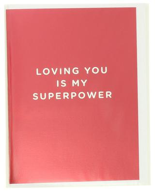 Loving You Is My Superpower post card LAGOM DESIGN