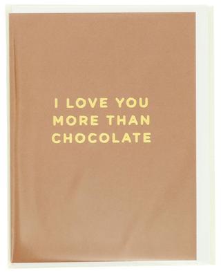 I Love You More Than Chocolate post card LAGOM DESIGN