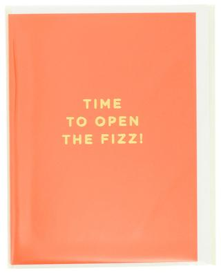 Time To Open The Fizz! post card LAGOM DESIGN