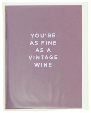 You're As Fine As A Vintage Wine post card LAGOM DESIGN