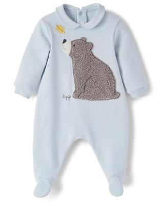 Grenouillère bébé brodé d'un ours IL GUFO