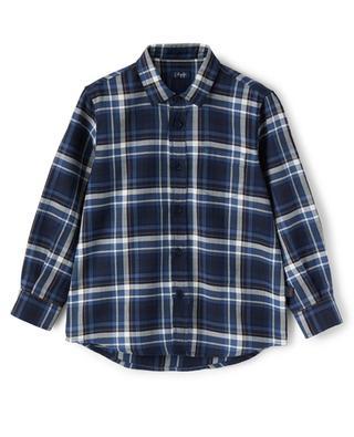 Chemise à carreaux garçon en flanelle IL GUFO