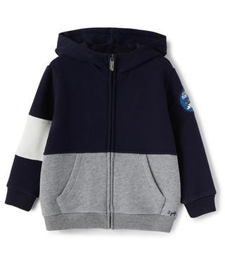 Sweat-shirt zippé à capuche garçon colour block IL GUFO