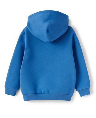Skier printed boy's hooded sweatshirt IL GUFO