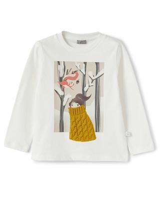 Mädchen-Langarm-T-Shirt Spaziergang im Wald IL GUFO