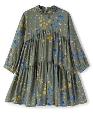 Floral girls' tiered flounced dress IL GUFO