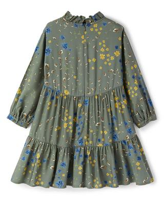Mädchen-Stufenvolantkleid mit Blütenprint IL GUFO