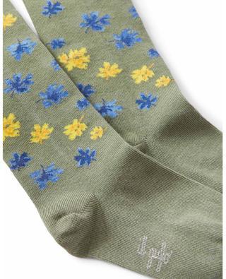 Mädchen-Strickstrumpfhose mit Blütenmotiv IL GUFO