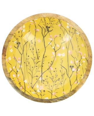 Bedruckte Mangoholzschüssel Yellow Flower BY ROOM
