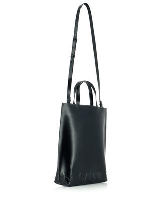 Medium Banner recycled leather tote bag GANNI